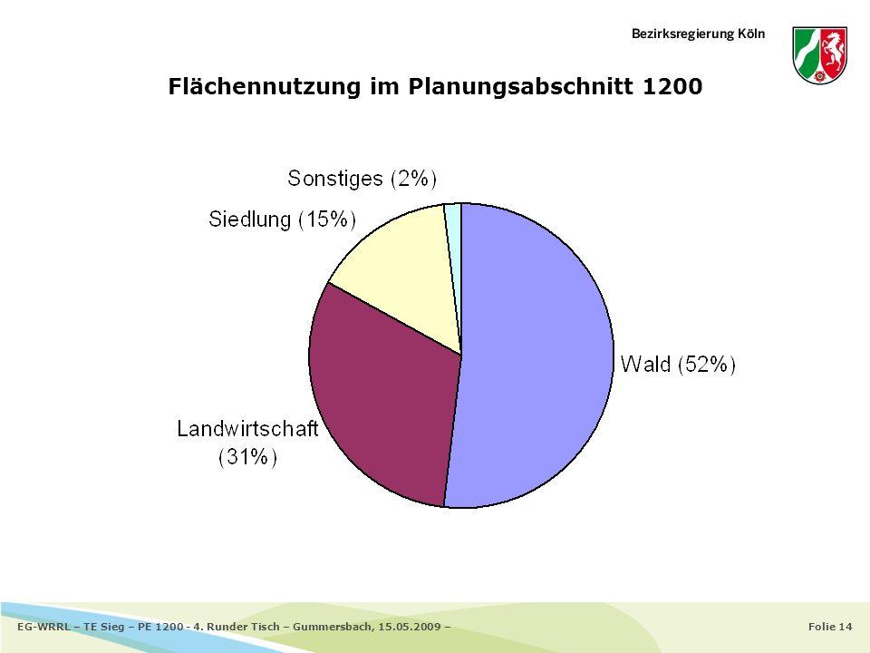 Flächennutzung im Planungsabschnitt 1200