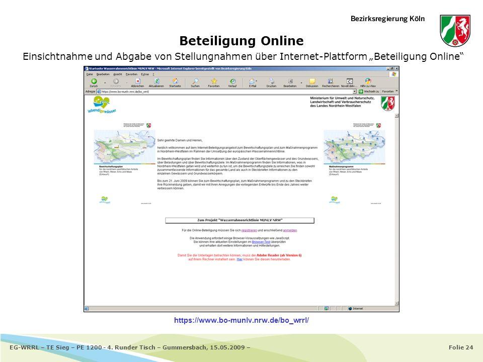 """Beteiligung Online Einsichtnahme und Abgabe von Stellungnahmen über Internet-Plattform """"Beteiligung Online"""