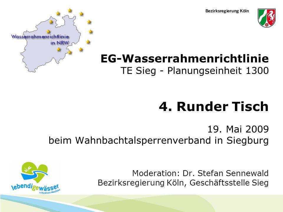 EG-Wasserrahmenrichtlinie TE Sieg - Planungseinheit 1300 4