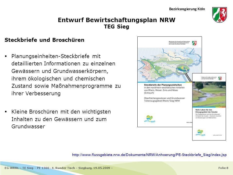 Entwurf Bewirtschaftungsplan NRW TEG Sieg