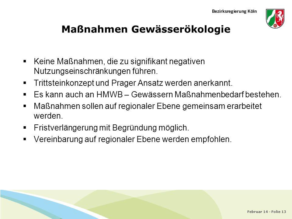 Maßnahmen Gewässerökologie