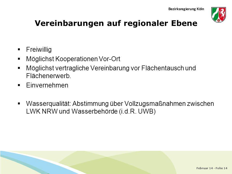 Vereinbarungen auf regionaler Ebene
