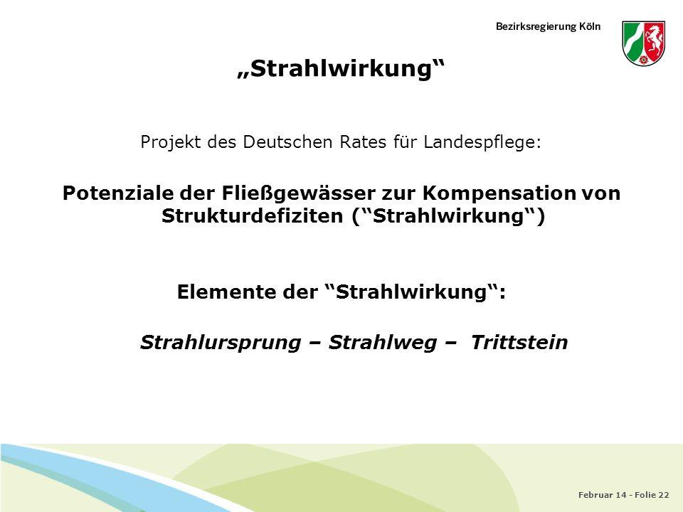 Elemente der Strahlwirkung : Strahlursprung – Strahlweg – Trittstein