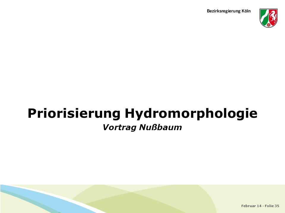 Priorisierung Hydromorphologie