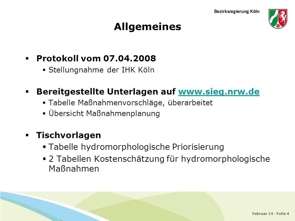 Allgemeines Protokoll vom 07.04.2008