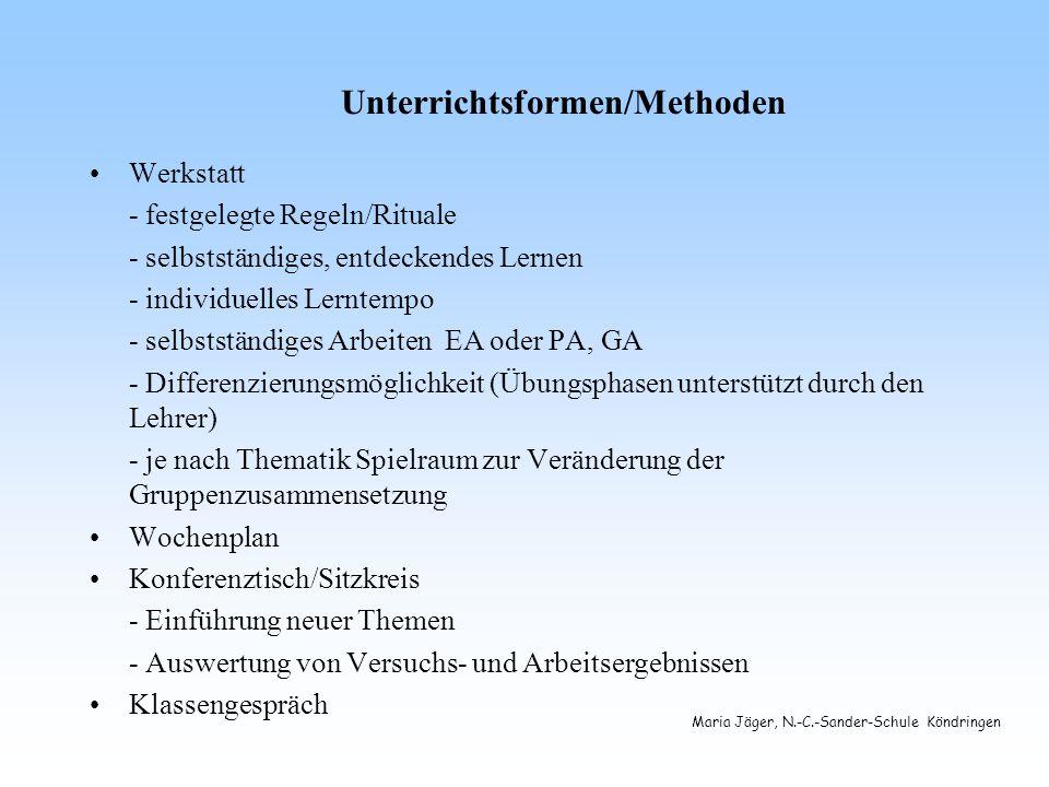 Unterrichtsformen/Methoden