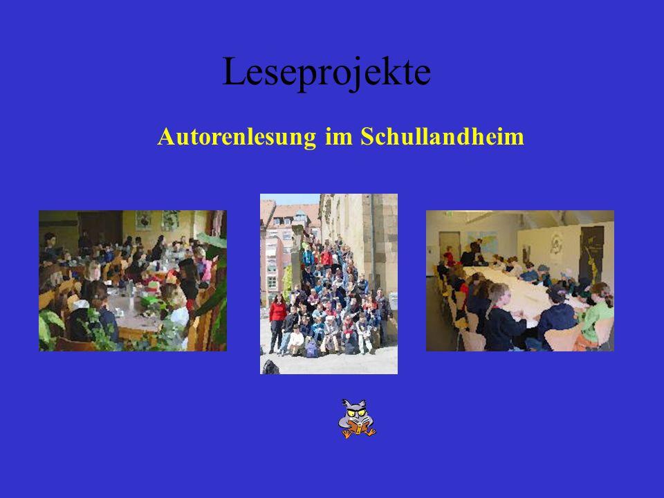 Autorenlesung im Schullandheim