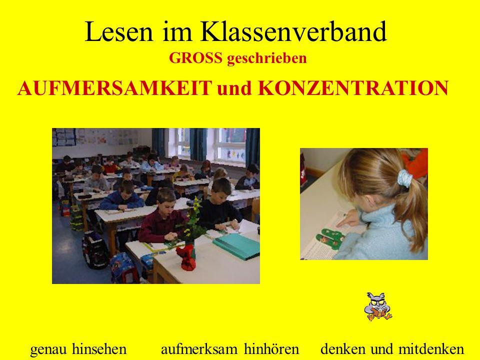 Lesen im Klassenverband