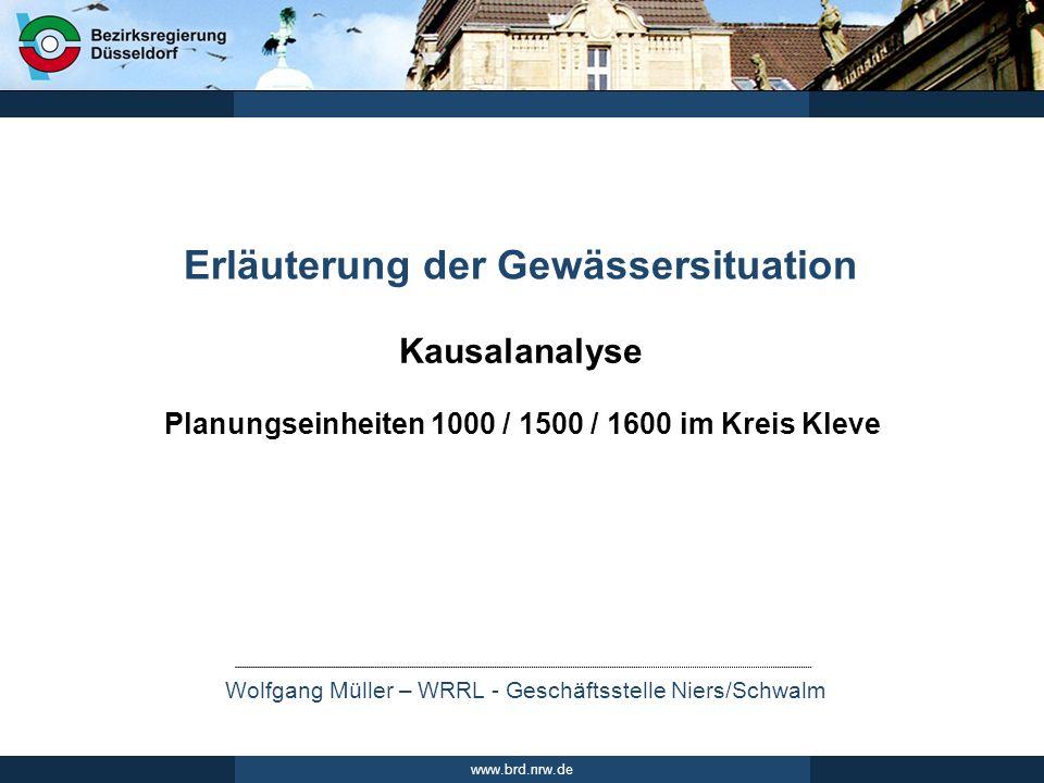 Erläuterung der Gewässersituation