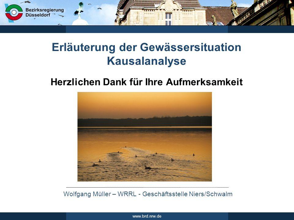 Erläuterung der Gewässersituation Kausalanalyse