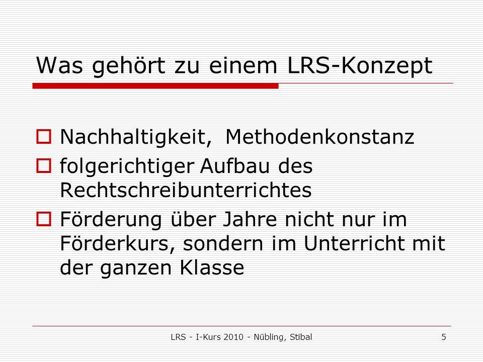 Was gehört zu einem LRS-Konzept