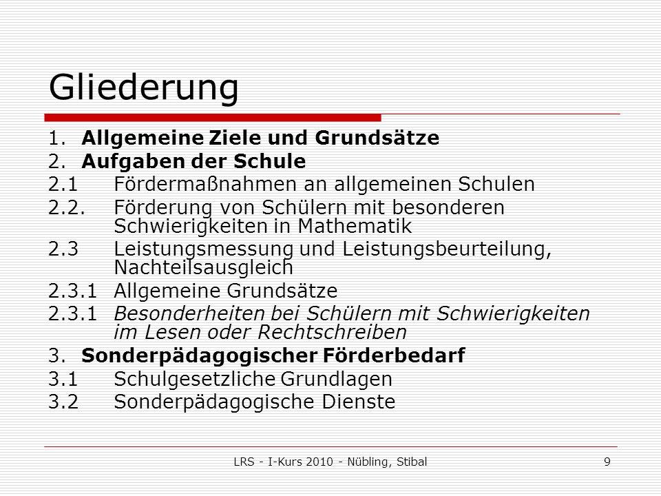 LRS - I-Kurs 2010 - Nübling, Stibal