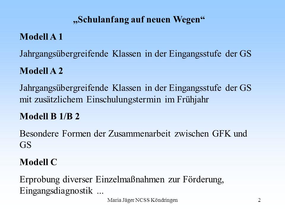 """""""Schulanfang auf neuen Wegen Modell A 1"""
