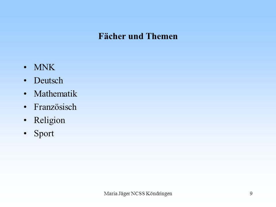 Maria Jäger NCSS Köndringen