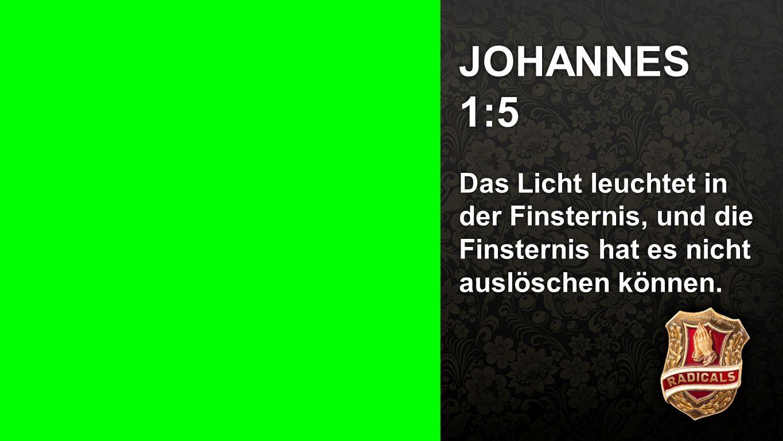 Seiteneinblender JOHANNES 1:5.
