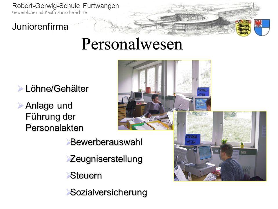 Personalwesen Löhne/Gehälter Anlage und Führung der Personalakten