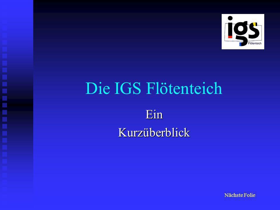 Die IGS Flötenteich Ein Kurzüberblick Nächste Folie