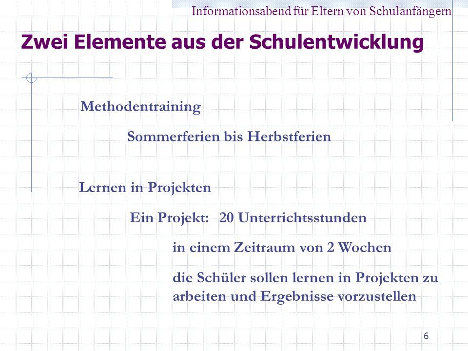 Zwei Elemente aus der Schulentwicklung