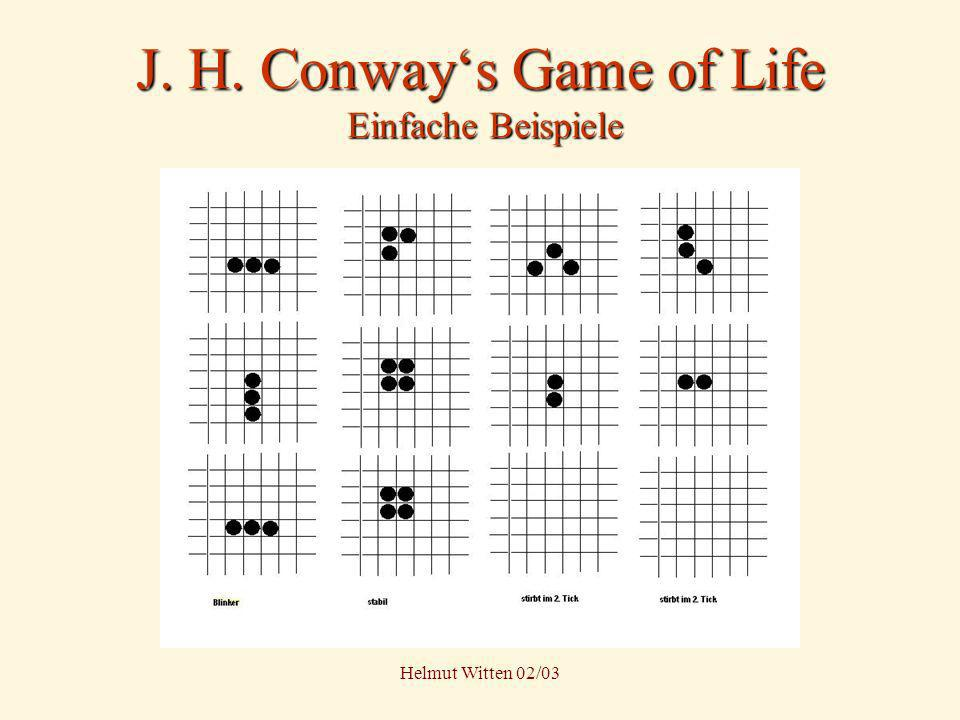 J. H. Conway's Game of Life Einfache Beispiele