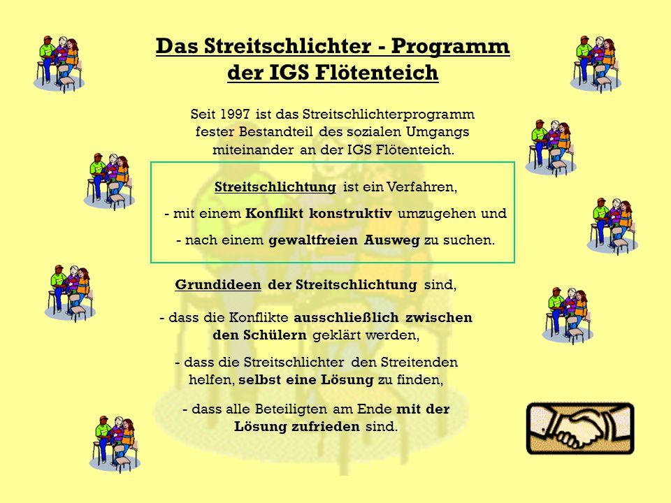 Das Streitschlichter - Programm der IGS Flötenteich
