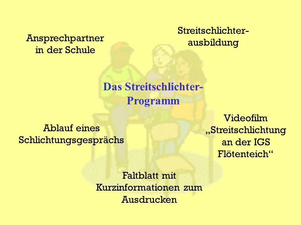 Das Streitschlichter-Programm