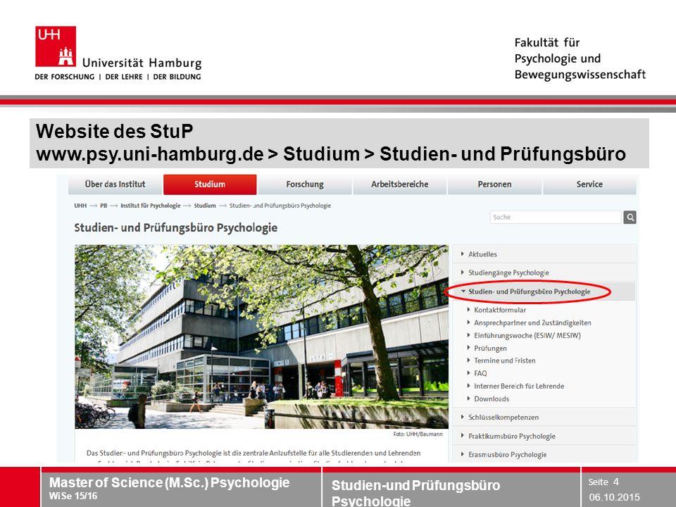 Website des StuP www. psy. uni-hamburg