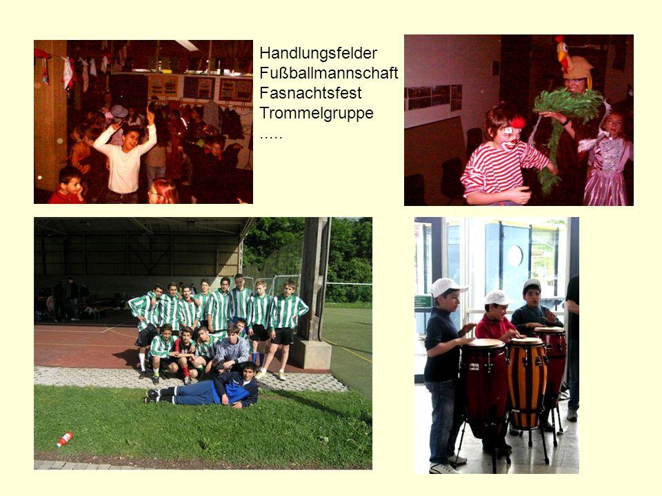 Handlungsfelder Fußballmannschaft Fasnachtsfest Trommelgruppe .....