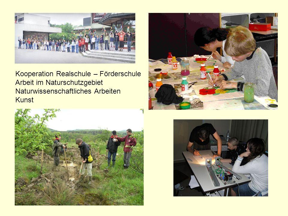 Kooperation Realschule – Förderschule Arbeit im Naturschutzgebiet Naturwissenschaftliches Arbeiten Kunst