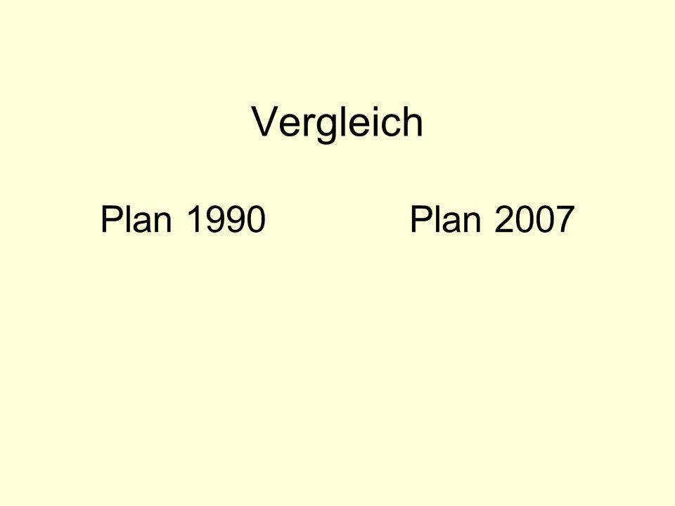 Vergleich Plan 1990 Plan 2007