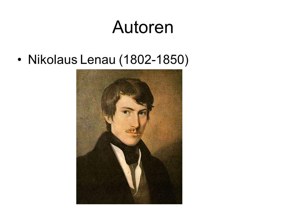 Autoren Nikolaus Lenau (1802-1850)