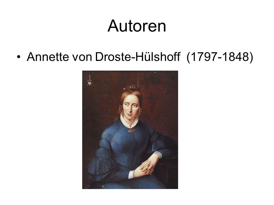 Autoren Annette von Droste-Hülshoff (1797-1848)