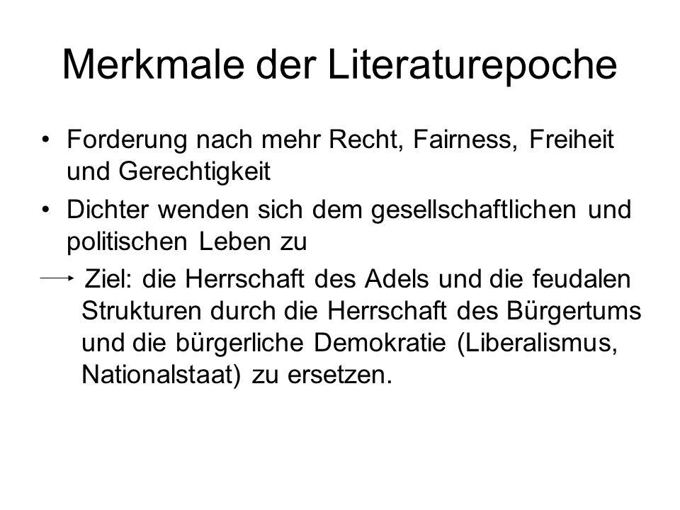 Merkmale der Literaturepoche