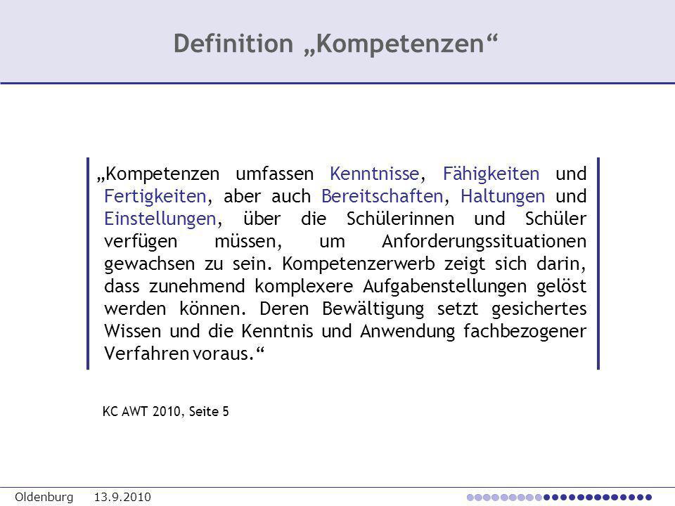 """Definition """"Kompetenzen"""