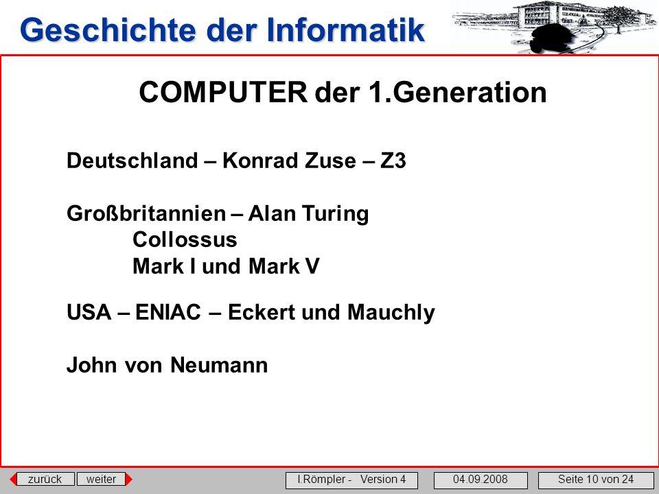 COMPUTER der 1.Generation