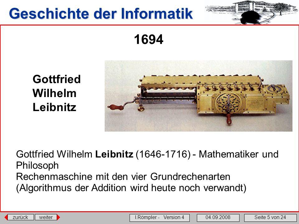 1694 Gottfried Wilhelm Leibnitz