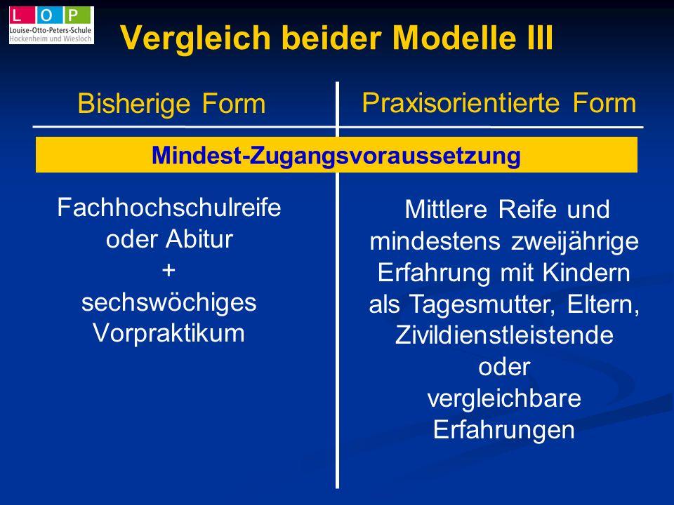 Vergleich beider Modelle III