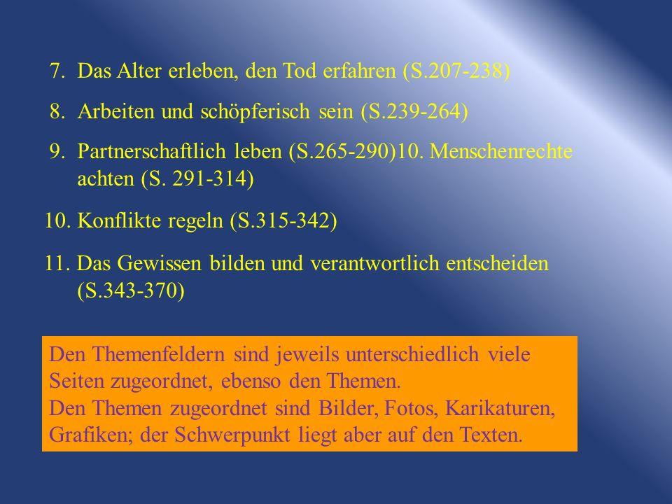 7. Das Alter erleben, den Tod erfahren (S.207-238)