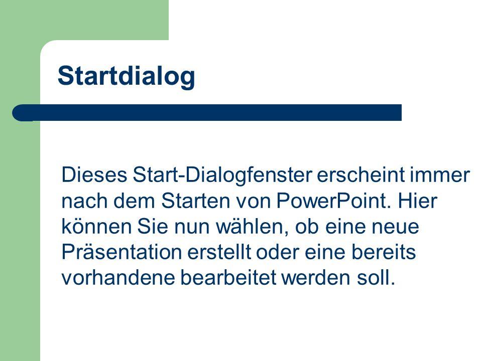 Startdialog