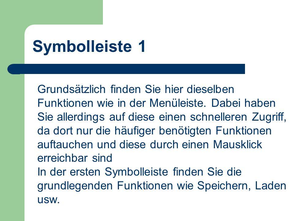 Symbolleiste 1
