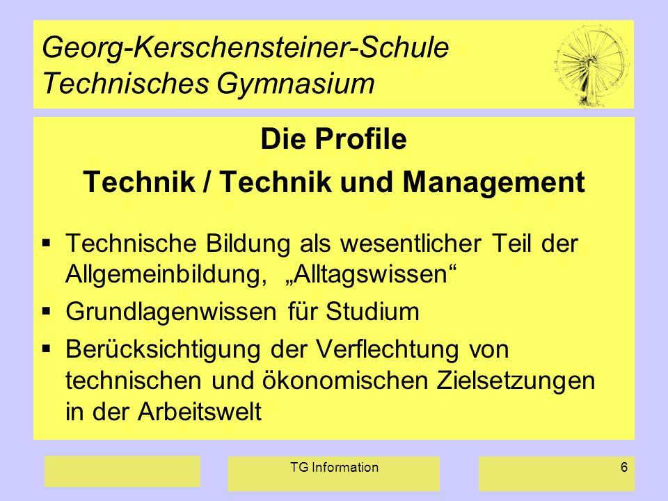 Georg-Kerschensteiner-Schule Technisches Gymnasium