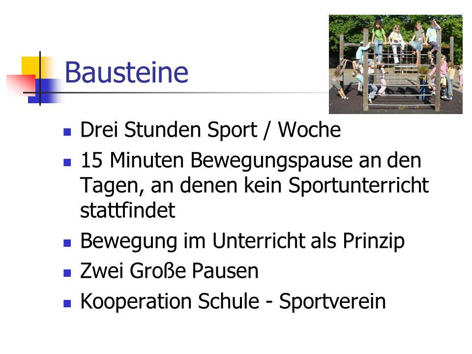 Bausteine Drei Stunden Sport / Woche