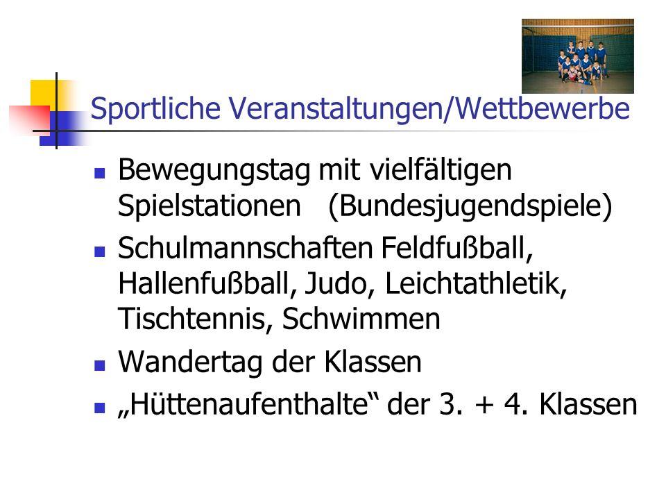 Sportliche Veranstaltungen/Wettbewerbe