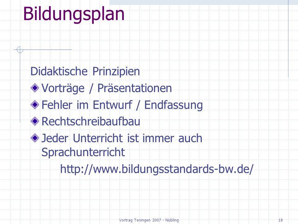 Vortrag Teningen 2007 - Nübling