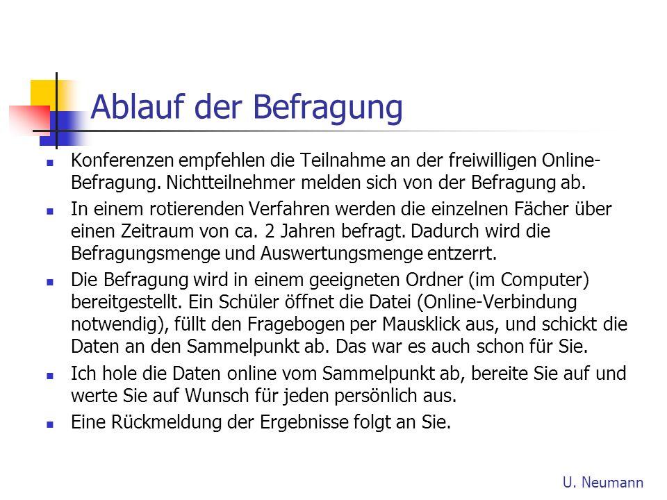 Ablauf der Befragung Konferenzen empfehlen die Teilnahme an der freiwilligen Online-Befragung. Nichtteilnehmer melden sich von der Befragung ab.
