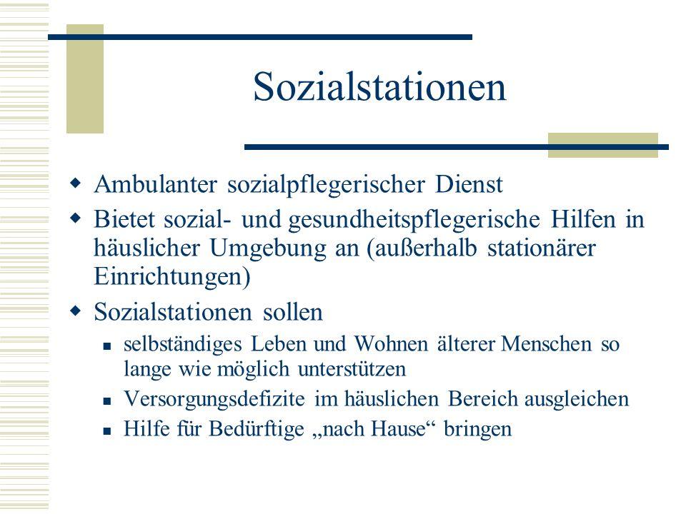 Sozialstationen Ambulanter sozialpflegerischer Dienst