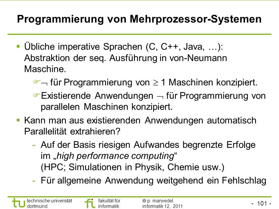 Programmierung von Mehrprozessor-Systemen