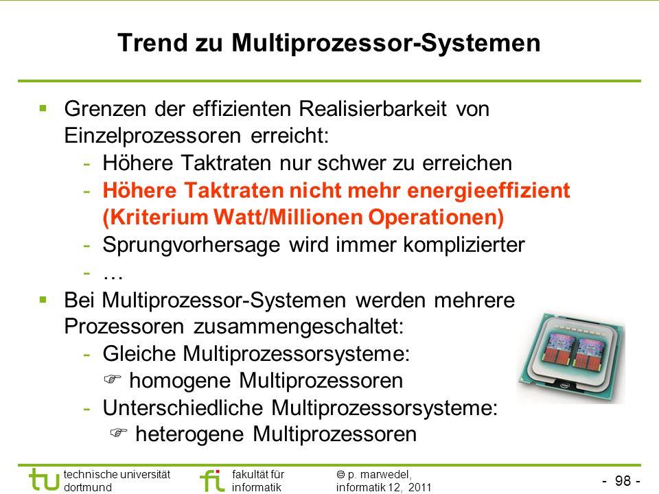 Trend zu Multiprozessor-Systemen