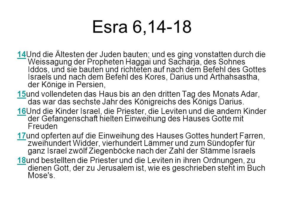 Esra 6,14-18