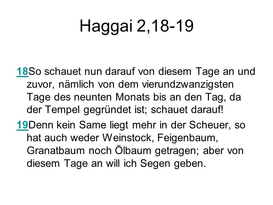 Haggai 2,18-19