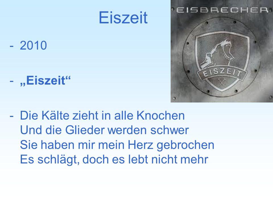 """Eiszeit 2010. """"Eiszeit"""